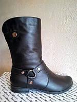 Ботинки зимние Б-204 черные из натуральной кожи