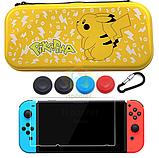 Жесткий чехол iSpoofer с рисунком для Nintendo Switch + Cтекло /, фото 5