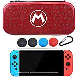 Жесткий чехол iSpoofer с рисунком для Nintendo Switch + Cтекло /, фото 8