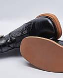 Ботинки кожаные лакированные женские черные на резинке и ремешках. Турция, фото 4