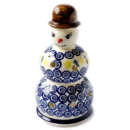 Керамический подсвечник Снеговик Mister Z, фото 2