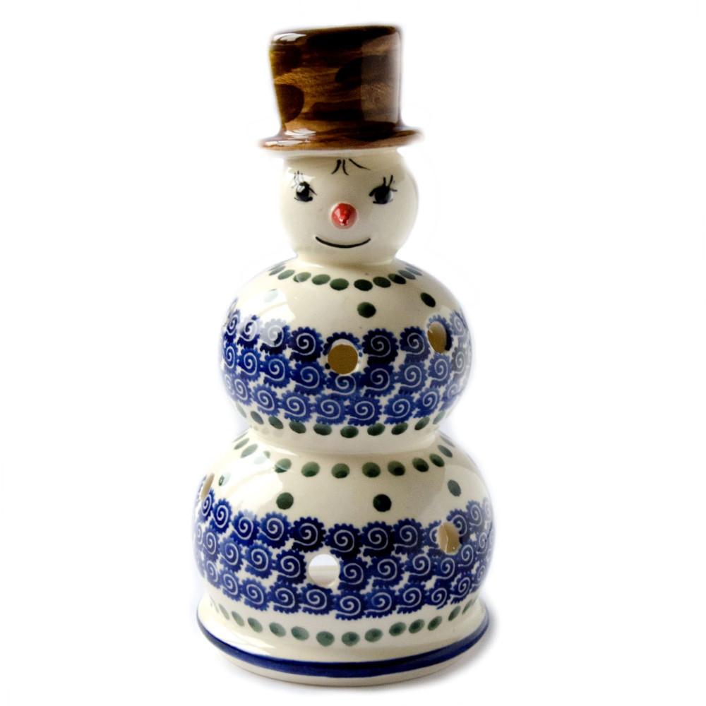 Керамический подсвечник Снеговик Mister D