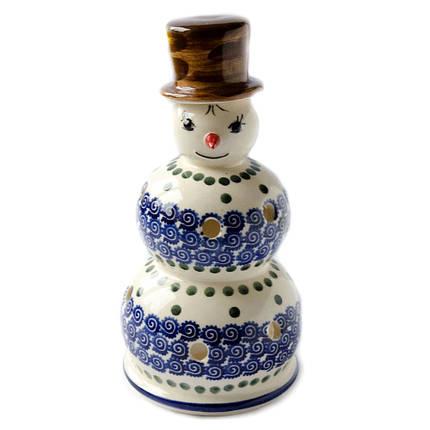 Керамический подсвечник Снеговик Mister D, фото 2