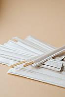Мешалкa деревянная в индивидуальной упаковке белая 500 шт/уп