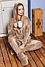 Пижама - домашний костюм12-1661 - кофейный: S-M L-XL