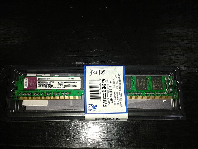 Модуль памяти Kingston, DDR3, 2Gb, 1333MHz, KVR1333D3N92G, для ПК
