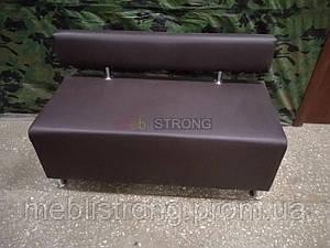 Офисный диван Лайф - коричневый цвет