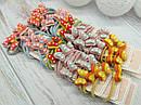 Резиночки для волосся бантики дрібний горошок 40 шт. на стрічці, фото 2