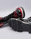 Ботинки кожаные лакированные женские черные на шнурках. Турция, фото 4