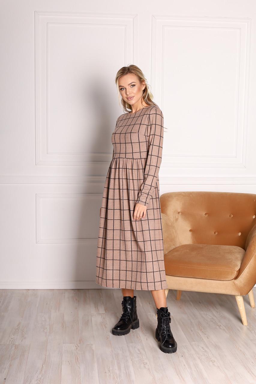 Модне жіноче плаття з картатим принтом (2 кольори)