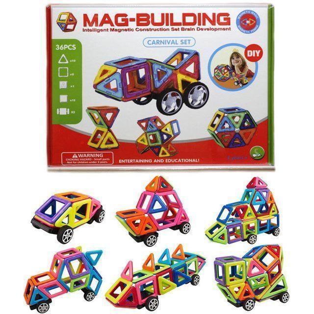 Магнитный конструктор на 36 деталей MAG-BUILDING CARNIVAL