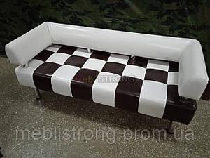Офисный диван в офис Стронг Chess (MebliSTRONG) - белый глянцевый цвет