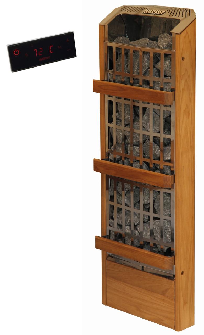 Напольная электрическая каменка Harvia Unio EE 3.6 кВт вес камней 36 кг с пультом