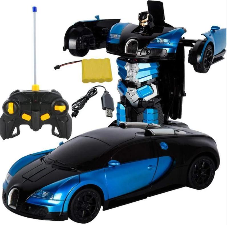 Машинка радиоуправляемая трансформер Robot Car Bugatti 1:14 DEFORMATION NO:577
