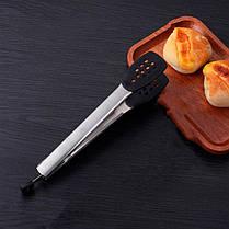 Щипцы универсальные GDAY Z330 Black из нержавеющей стали зажим кухонный, фото 3