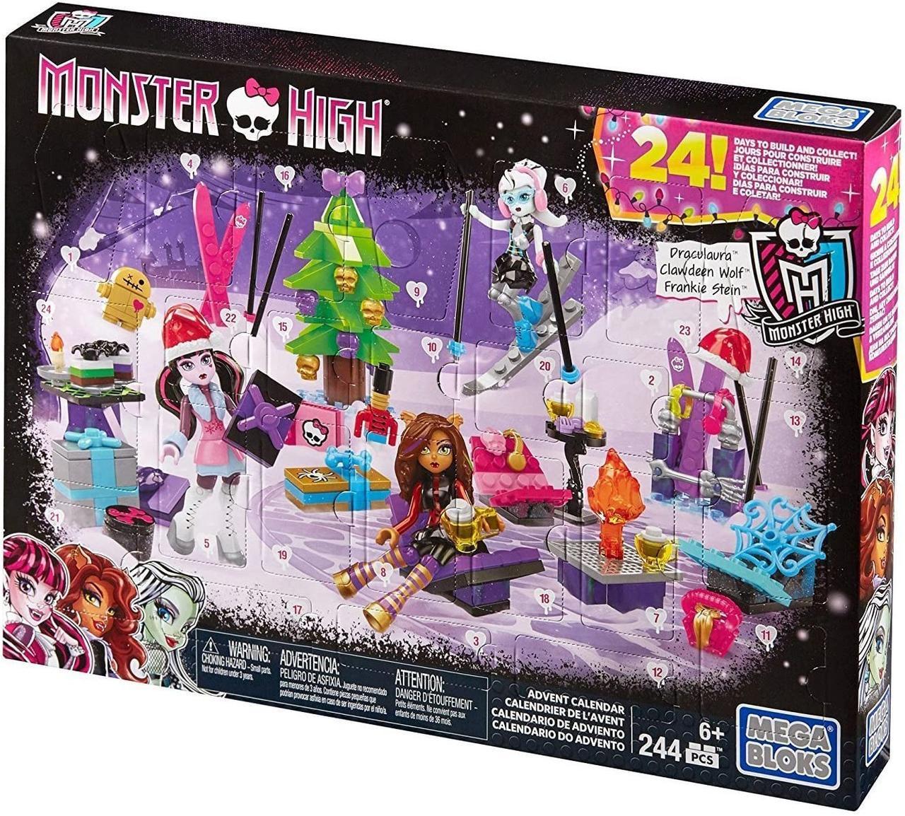 Монстер хай Мега Блокс Адвент-календарь Monster High Mega Bloks  Advent Calendar DPK33