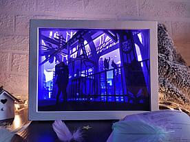 "3D Lightbox-ночник Vesper ""Первый поцелуй"""