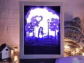 """3D Lightbox-ночник Vesper """"День Святого Валентина"""""""