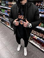 Теплая мужская зимняя куртка оверсаиз Турция (Черный) Vit7
