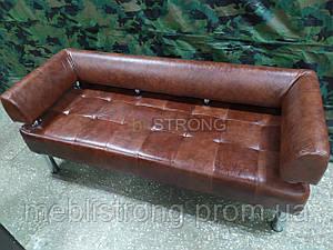 Офисный диван в офис Стронг (MebliSTRONG) - коричневый глянцевый цвет