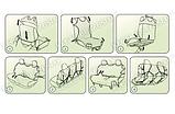 Майки (чехлы / накидки) на передние и задние сиденья (х/б ткань) Daewoo racer (дэу/деу/део рейсер 1987г+), фото 8