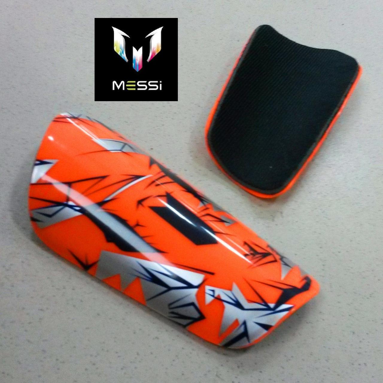Футбольные щитки  MESSI orange