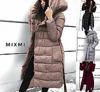 Р 42-46 Зимний пуховик-пальто с капюшоном 23221