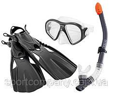 Набор для плавания Intex 55657 маска 59 см  + трубка + ласты под стопу ≈ 26,5 см