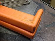 Офисный диван в офис Стронг (MebliSTRONG) - оранжевый матовый цвет, фото 6
