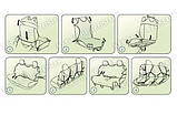Майки (чехлы / накидки) на передние и задние сиденья (х/б ткань) Citroen С2 3D (ситроен с2 2003-2009), фото 7