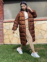Пальто женское плащевка, фото 1