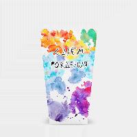 Коробочка для попкорна Краски С днем рождения