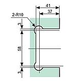 Петля для скла 90°(стіна-скло) К200В зі зміщенням, фото 3