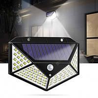 Уличный светильник с датчиком движения на солнечной батарее solar interaction wall lamp 100 LED