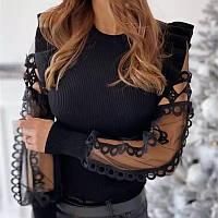 Блуза  рукава гипюр, фото 1