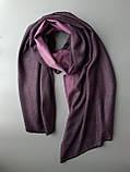 Двухсторонний шарф из шерсти и шелка светло фиолетовый, фото 3