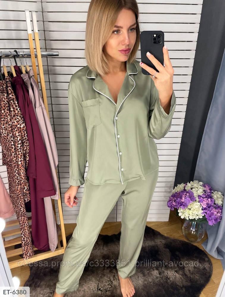 Шёлковая пижама женская рубашка и штаны