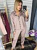 Шёлковая пижама женская рубашка и штаны, фото 6