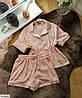 Шёлковая пижама женская рубашка и шортики, фото 6