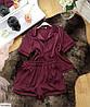 Шёлковая пижама женская рубашка и шортики, фото 8