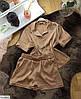 Шёлковая пижама женская рубашка и шортики, фото 9
