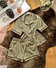 Шёлковая пижама женская рубашка и шортики, фото 10