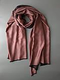 Двухсторонний шарф из шерсти и шелка античная роза, фото 2