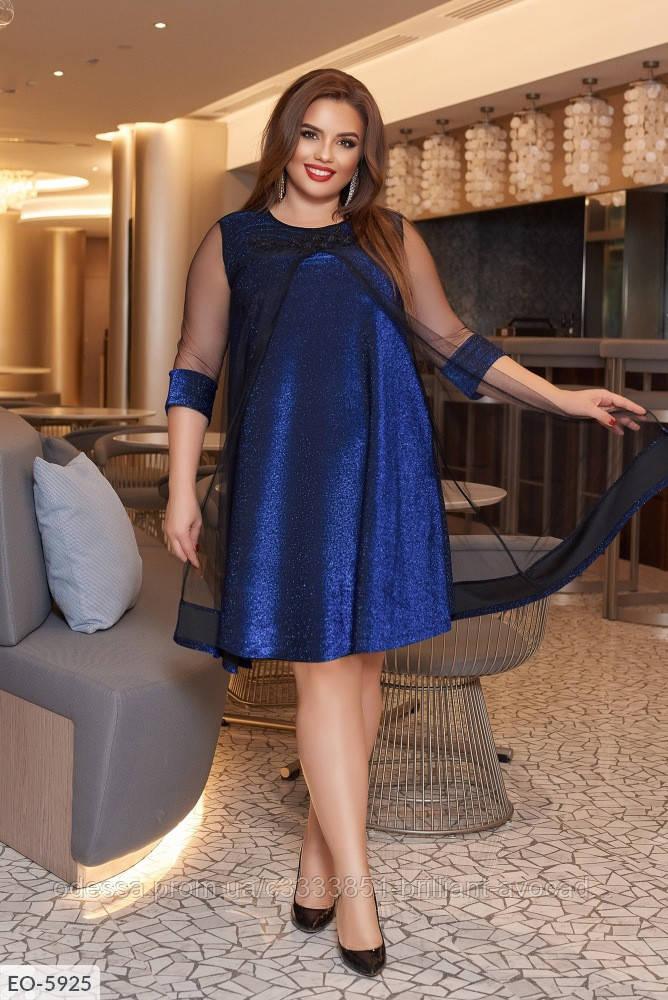 Женское вечернее нарядное платье в большом размере