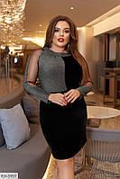 Женское модное вечернее - коктейльное платье в большом размере