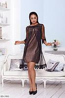 Женское красивое нарядное платье, большой размер