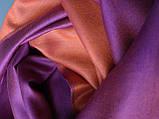 Двухсторонний шарф из шерсти и шелка малиново/оранжевый, фото 4