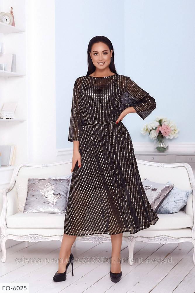 Стильное женское вечернее платье в больших размерах