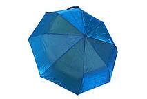Яскравий жіночий парасольку напівавтомат поліестер/карбон блакитний (в шести кольорах) Арт.311 Mario (Китай)