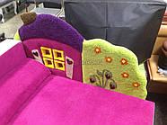 Детский диван с нишей для ребенка Теремок - розовый цвет, фото 3